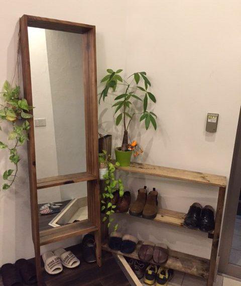靴棚の完成(^^)v